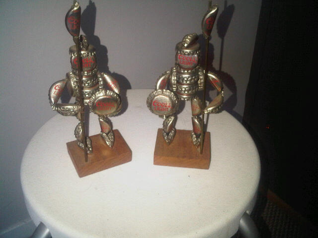 A neat little Folk Art Coors Soldier Sculptures i found at my buddies Aggres10