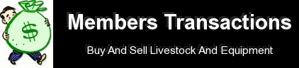 MEMBERS TRANSACTIONS-Buy And Sell LiveStock And Equipment