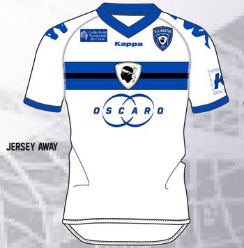 Les nouveaux maillots du SC Bastia. Exteri10