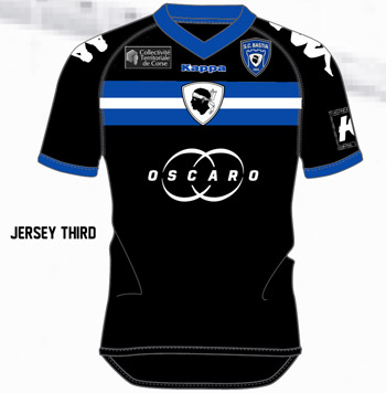 Les nouveaux maillots du SC Bastia. Third10