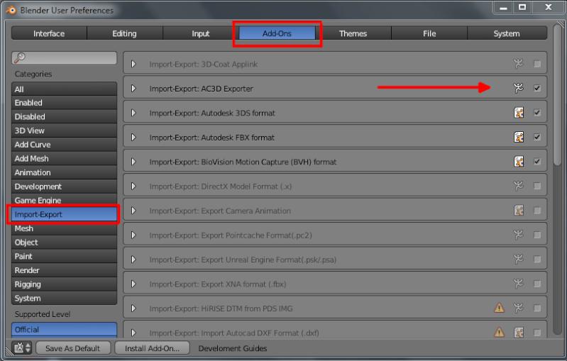 Importer des fichier AC3D Import10