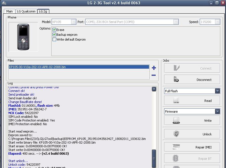 Lg kp105 autorestart done Kp10510