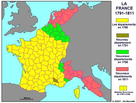 Cartes de la France des 130 départements Cartes10