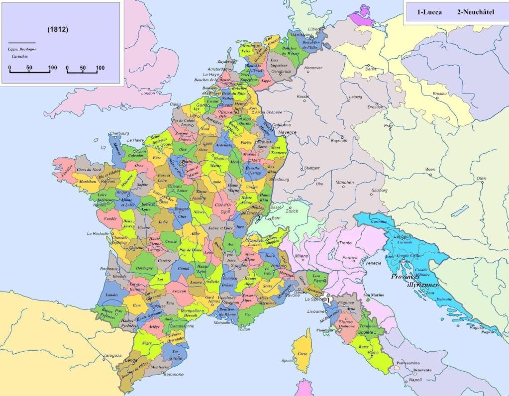 Cartes de la France des 130 départements Dapart10