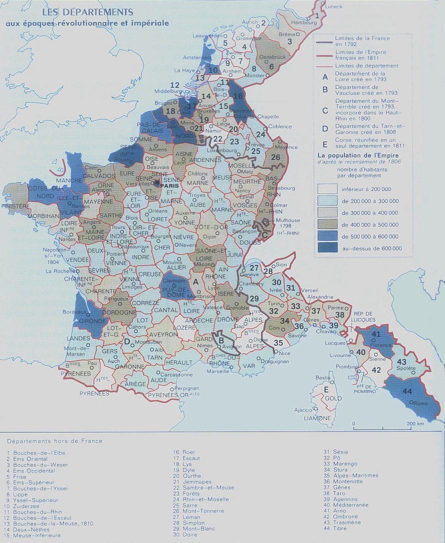 Cartes de la France des 130 départements Ffr10