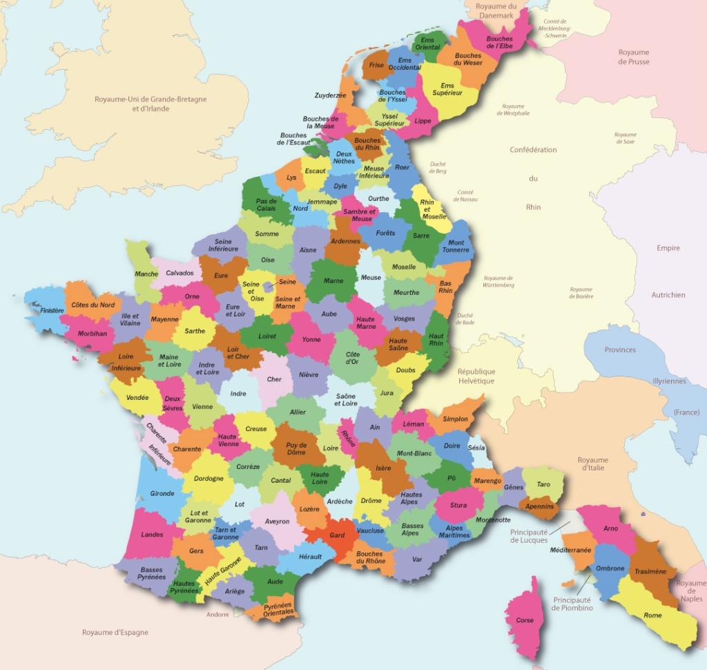 Cartes de la France des 130 départements Fr10