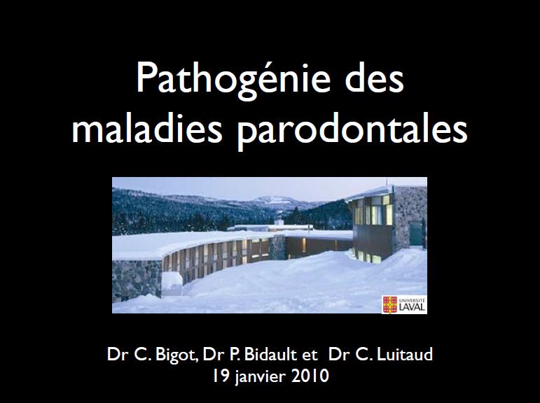 Pathogènies des maladies parodontales Pathog10