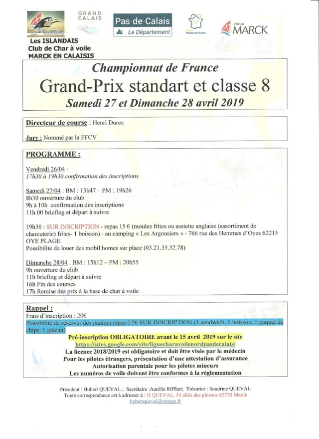 GP De Marck 27 - 28 Avril 2019 Progra10