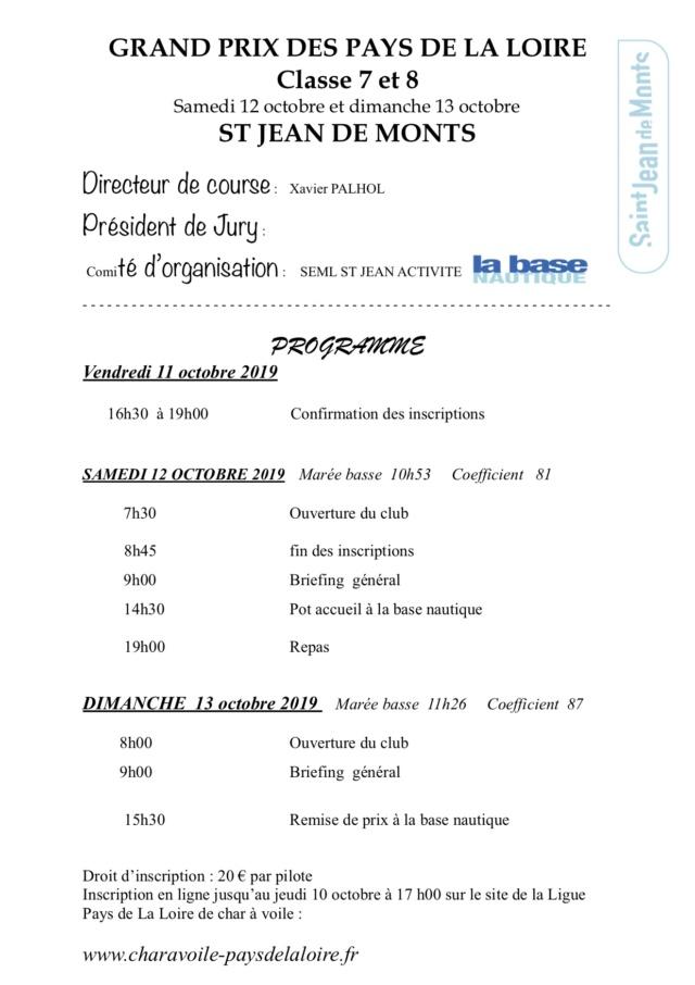 GP CL7 et 8  St jean de mont 12 et 13 Octobre 2019 Progra13