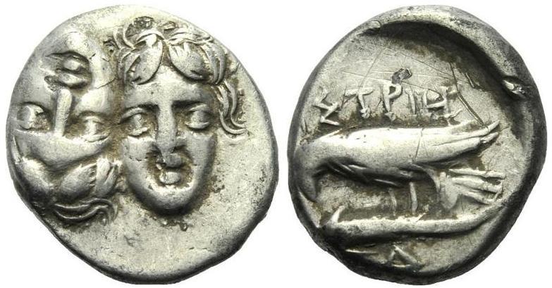 Dracma o estátera de Istros (Tracia, 400 y 350 a.C.) 193