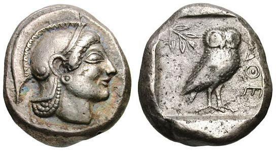 Tetradracmas de Atenas 217