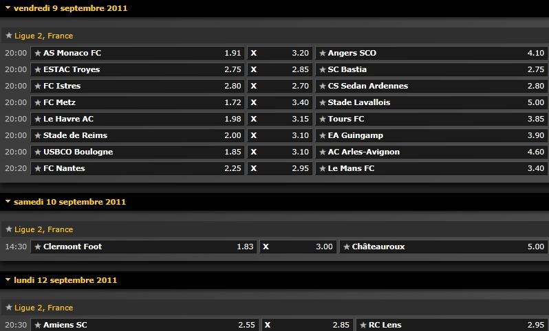 Pronostics 6ème journée Ligue 2 : Amiens - RC Lens // Reims - Guinguamp // Monaco - Angers // Nantes - Le Mans... Screen39