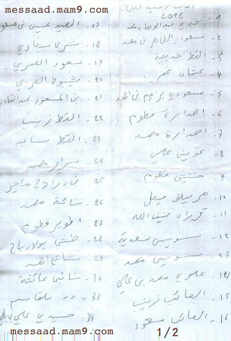 قائمة الناجحين في قرعة الحج من مدينة مسعد 2012 Image111