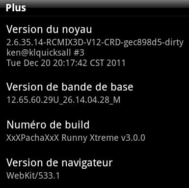 [ROM 2.3.5 / SENSE 3.5][11/05/2012] Runny Xtreme Surprise - v3.0.1   Xtreme Fast   Thème Sense4 Xtreme Beauty 0plus10