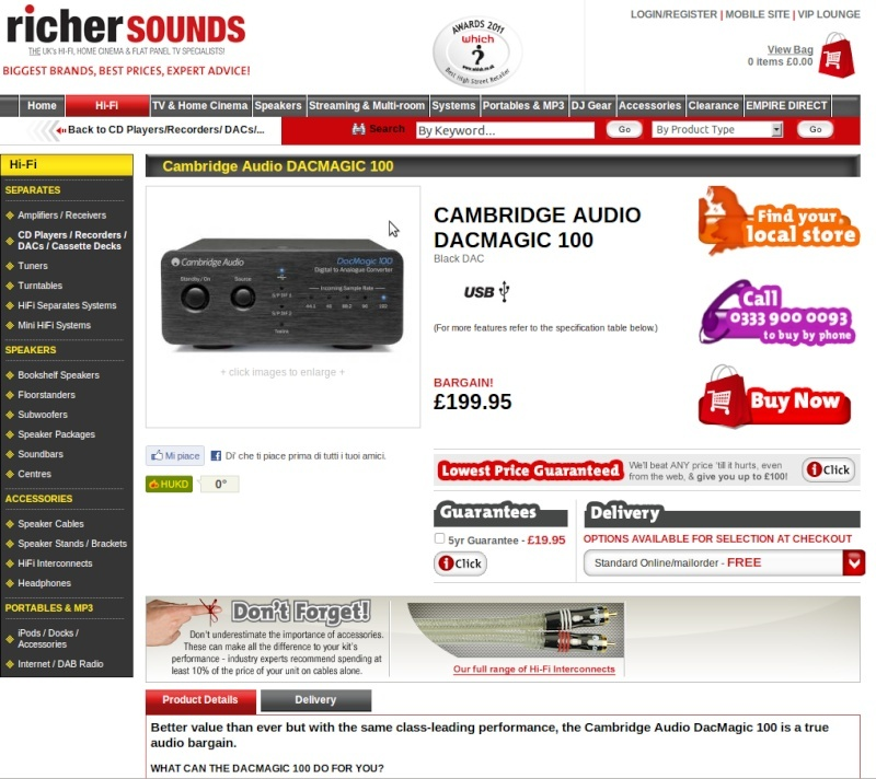 WORLD EXCLUSIVE! Cambridge Audio unveils £199.95 DacMagic 100 Scherm10