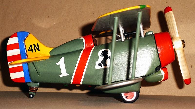Deko-Flugzeug aus Holz Yellow11