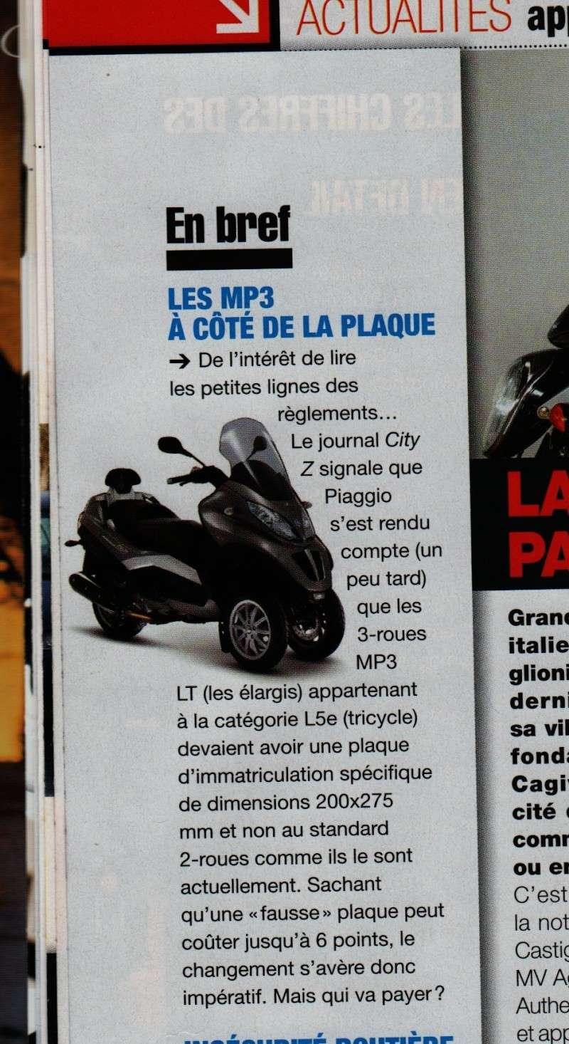 Plaques légales pour Piaggio MP3 Motoma10