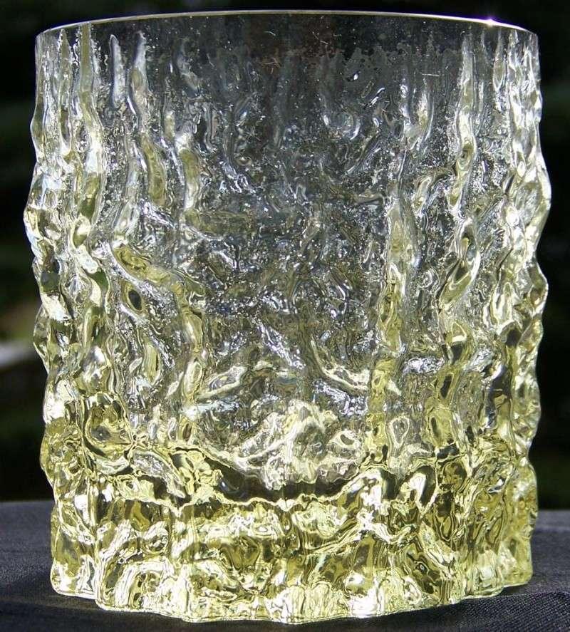 Yellow Crinkle/Bark/Ice Tumblers Glass915
