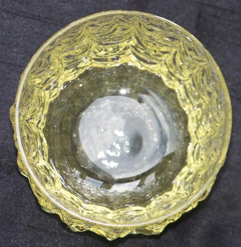 Yellow Crinkle/Bark/Ice Tumblers Glass916