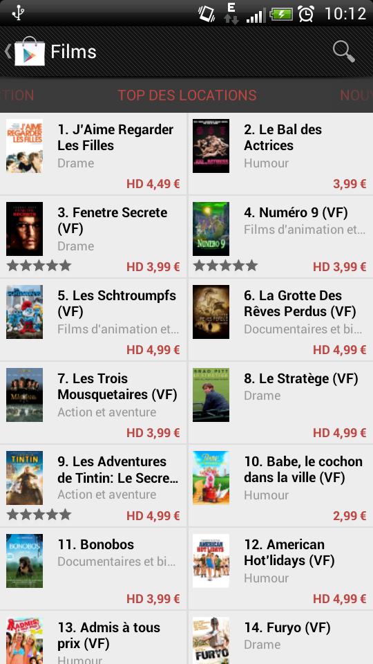 [SOFT] GOOGLE PLAY FILMS : Louer vos films sur le Play Store [Gratuit] 2012-010
