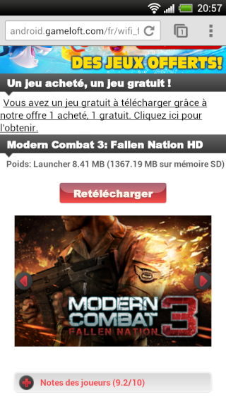 [JEU] MODERN COMBAT 3 -FALLEN NATION : Le troisième volet du superbe FPS de Gameloft  [Payant] 2012-013
