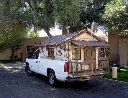 Good looking truck slide-in camper Shanty10