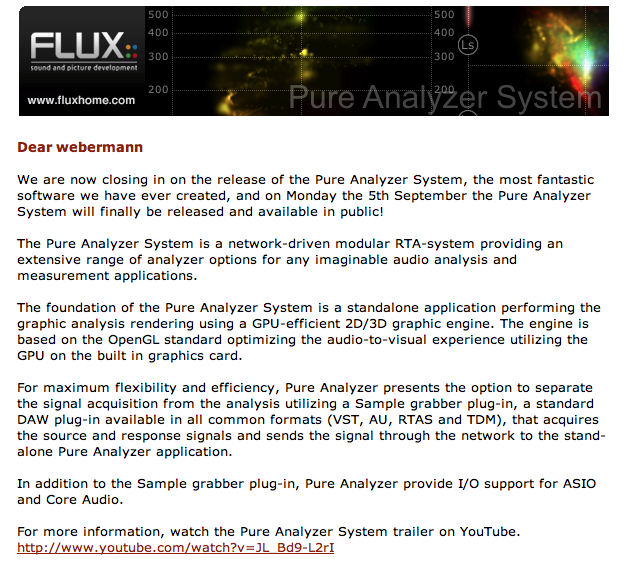 Pure Analyzer System FLUX Captur10