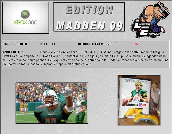 XBOX 360 : Edition MADDEN 09 360_ma10