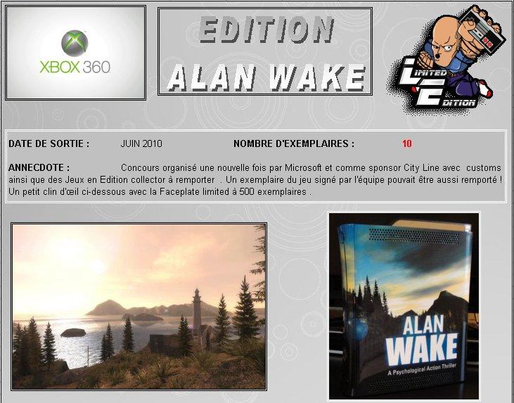 XBOX 360 : Edition ALAN WAKE Fiche_10