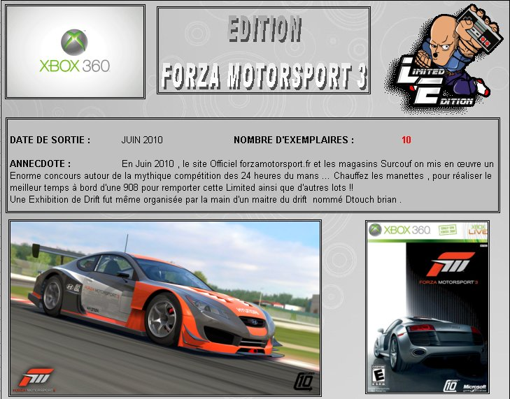 XBOX 360 : Edition FORZA MOTORSPORT 3 Forza310