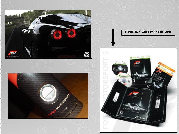 XBOX 360 : Edition FORZA MOTORSPORT 3 Forza312