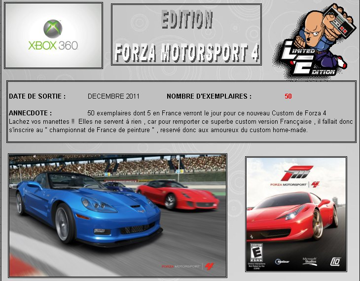 XBOX 360 : Edition FORZA MOTORSPORT 4 Forza410