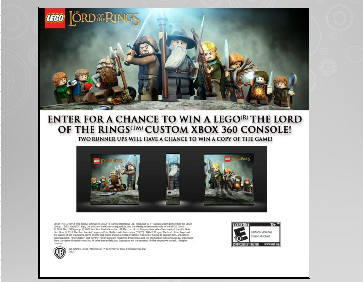 XBOX 360 : Edition LEGO Lord of the Rings Lego_l11