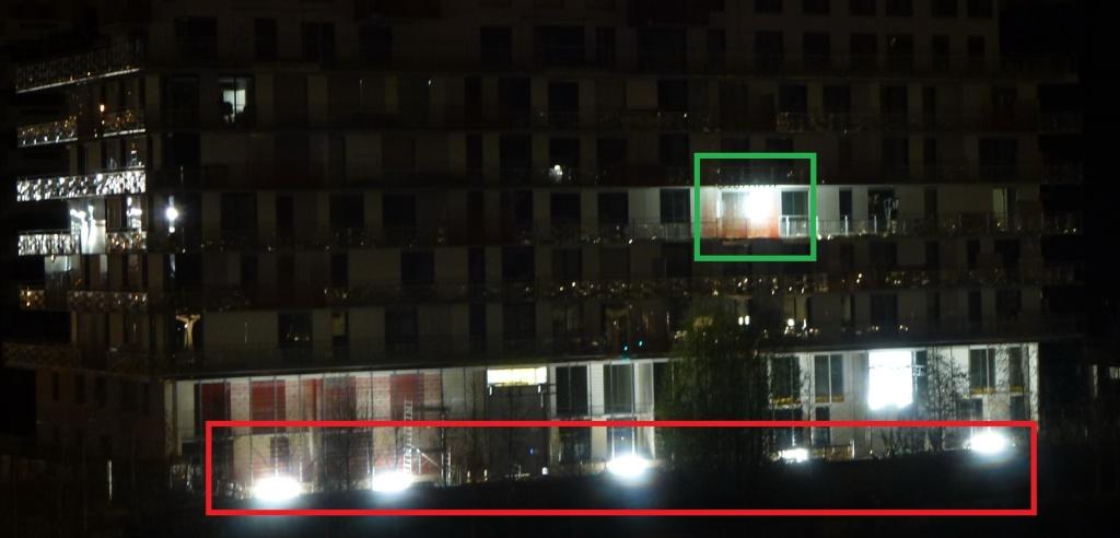 Eclairage des balcons de Baie sur Parc Clipbo88