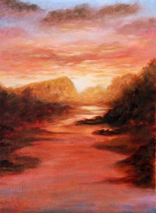 Rainy Sunset Orange13