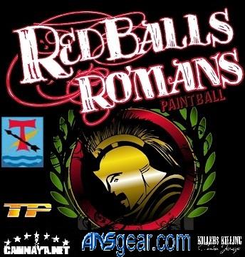 Redballs Romans paintball