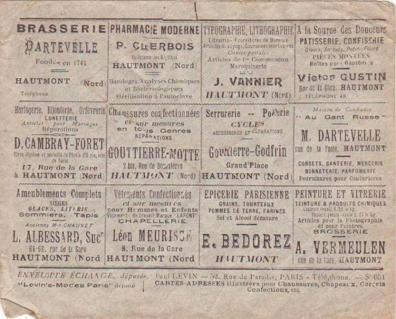 Enveloppe Echange publicitaire Hautmo10