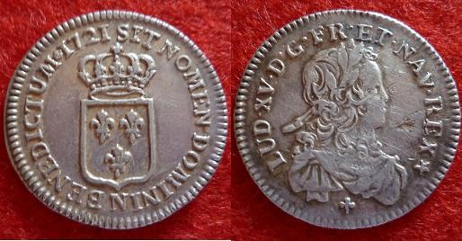 ma collection de sixième d'écu de France pour Louis XV Numism38