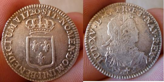 ma collection de sixième d'écu de France pour Louis XV P1010915