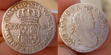 ma collection de sixième d'écu de France pour Louis XV P1010917