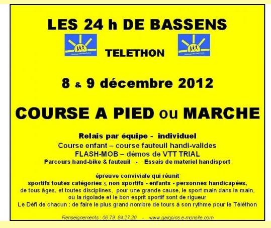 Téléthon: 24h de Bassens (73): 8-9 décembre 2012 Bassen10