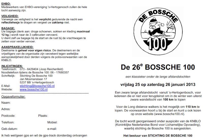De Bossche 100, 100/110km( NL), 110 places: 25-26/ 01 / 2013 Bossch11