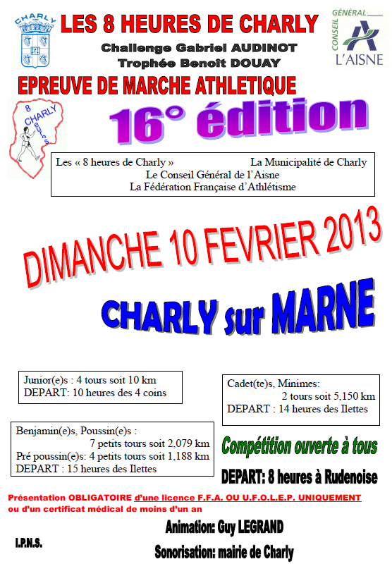 8 heures de Charly sur Marne: 10 février 2013 Charly10