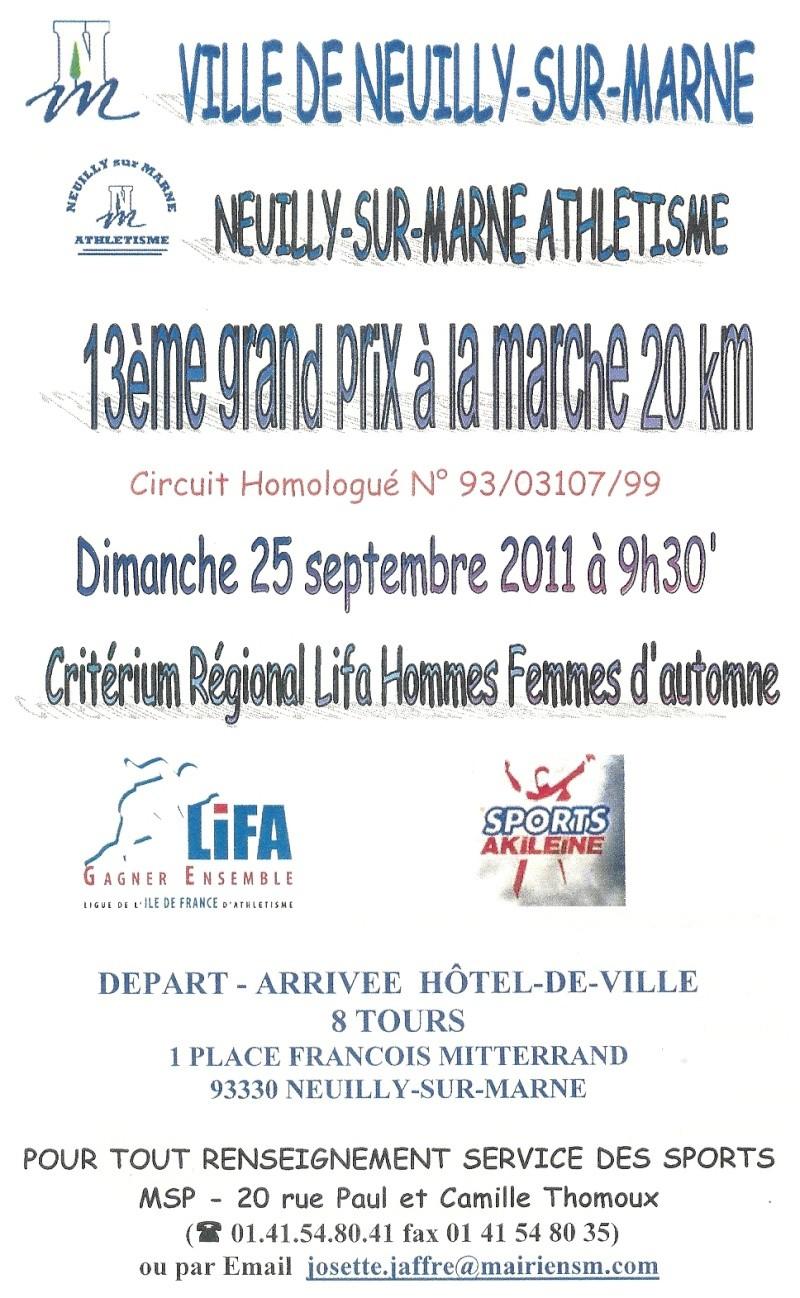 20 KMS à NEUILLY sur MARNE CRITERIUM LIFA 25/09/2011 Numari11