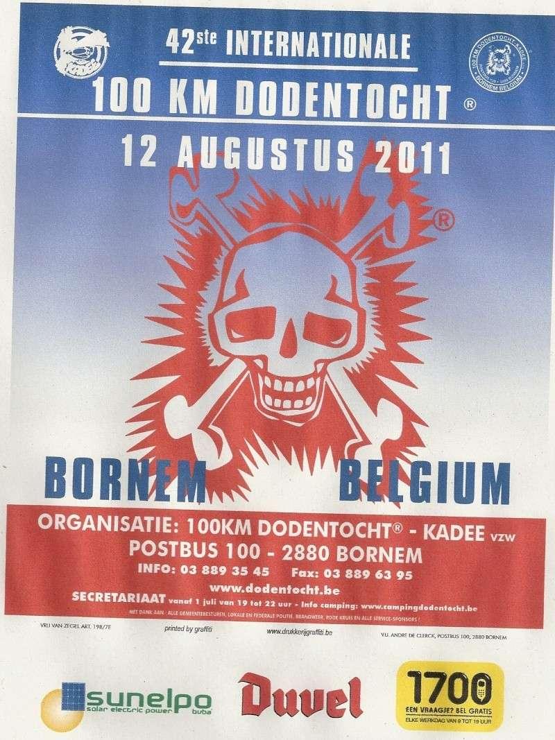 """12 août 2011: 42ème édition des 100km de la """"Dodentocht"""" Numari13"""