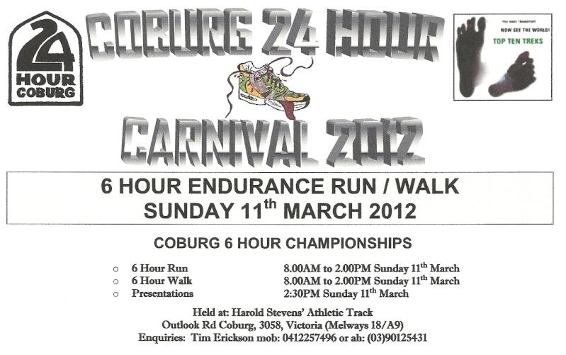 6 heures (jugées) de Coburg (Australie): 11/03/2012 Numari14