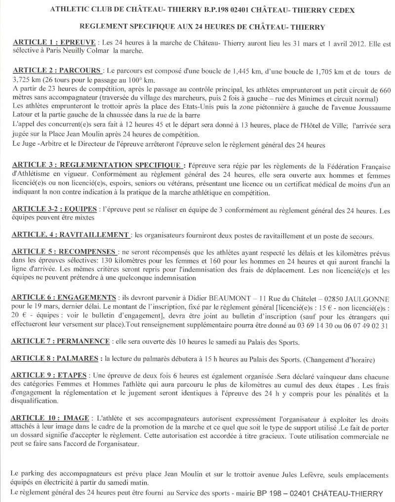 - 31 mars et 1er avril 2012 : 24 heures de Château-Thierry  Numari28