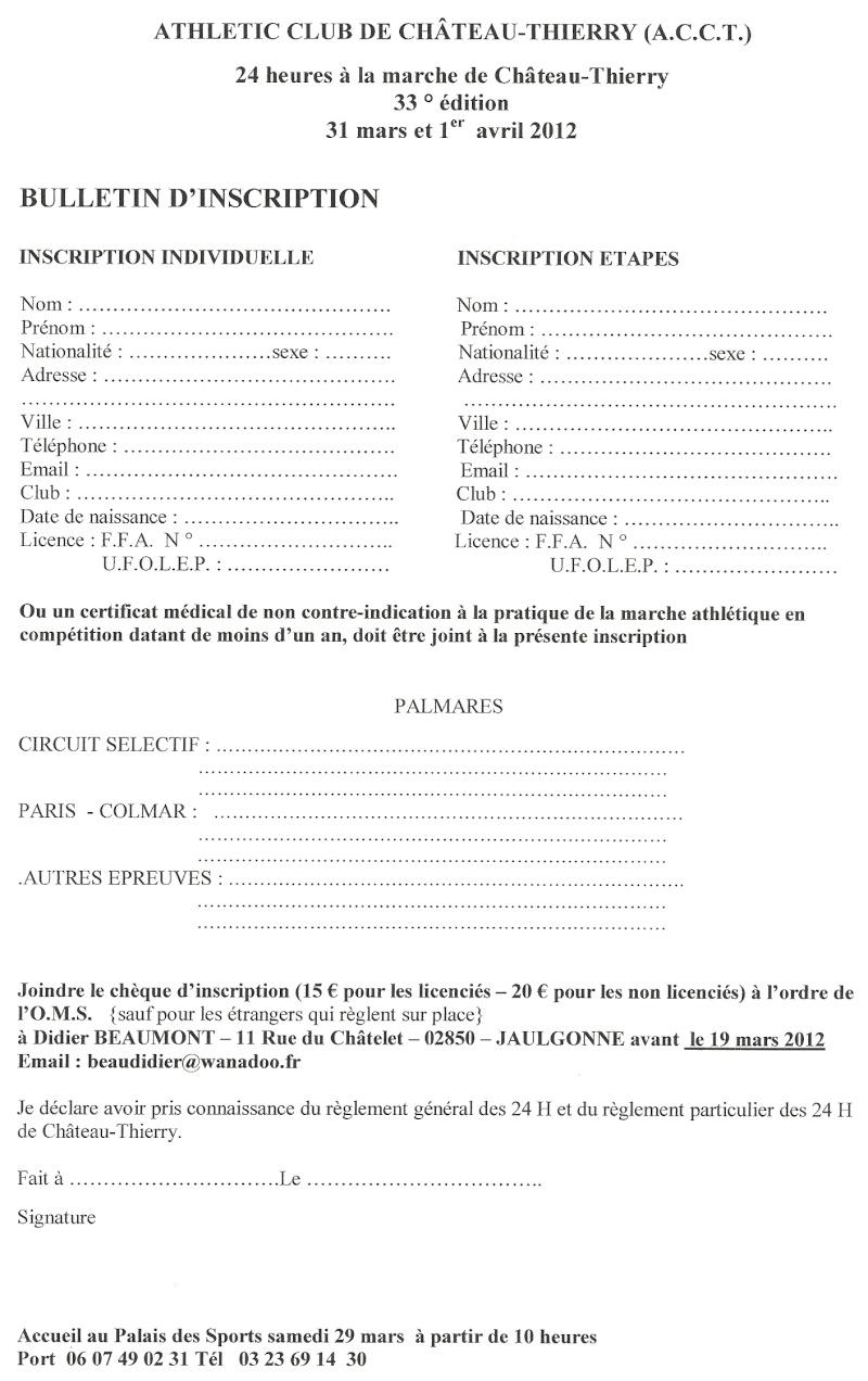 - 31 mars et 1er avril 2012 : 24 heures de Château-Thierry  Numari29