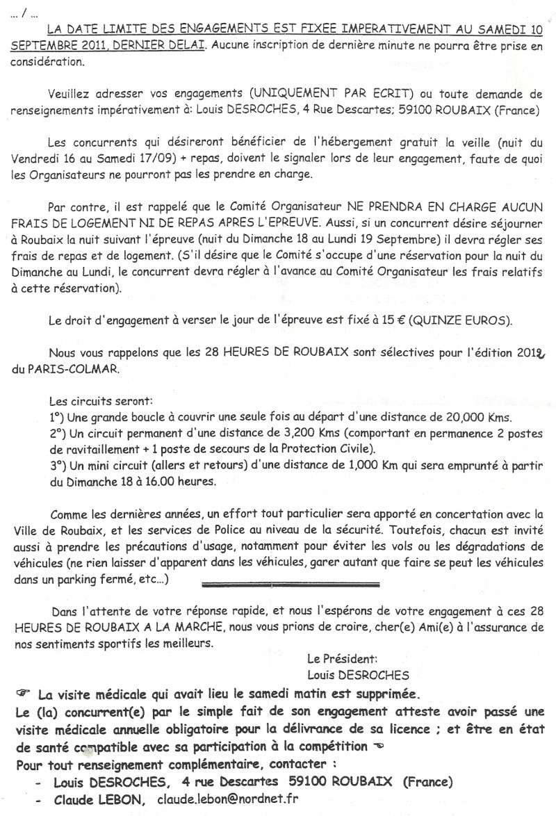 28 heures de ROUBAIX 17 et 18 Septembre 2011 Roubai11