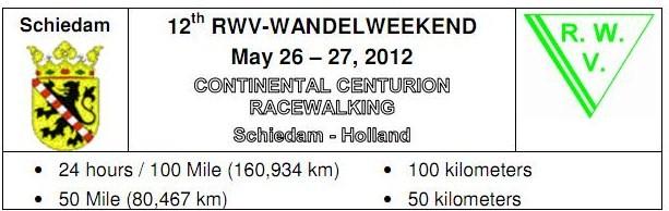24h/100EM/100km/50EM/50km; Schiedam(NL): 26-27/05/2012 Rww-wa10